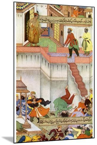 The Killing of Adham Khan by Akbar, C1600--Mounted Giclee Print