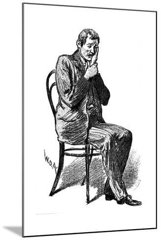 Hypnosis Subject Suffering from Imaginary Toothache, 1891--Mounted Giclee Print
