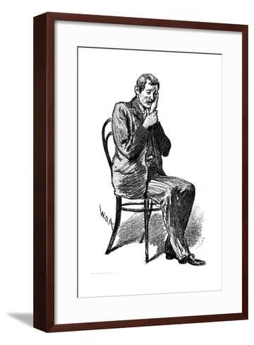 Hypnosis Subject Suffering from Imaginary Toothache, 1891--Framed Art Print