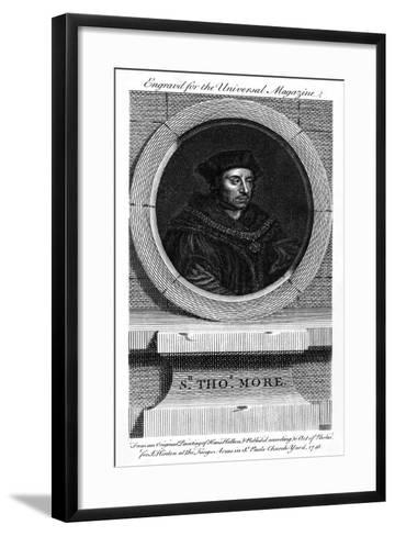 Sir Thomas More, Catholic English Lawyer, Writer, and Politician-Hans Holbein the Younger-Framed Art Print