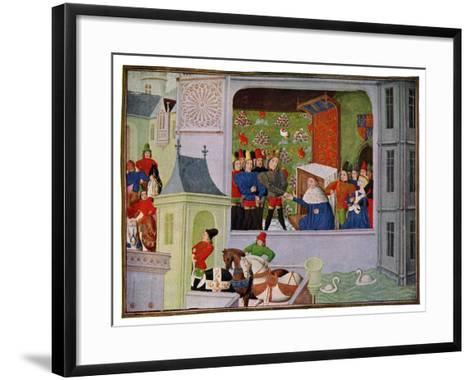 Interview of Richard II and the Duke of Gloucester, 14th Century--Framed Art Print