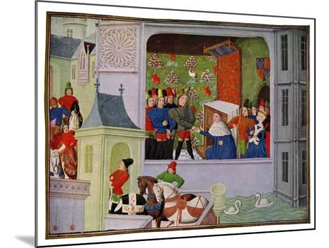 Interview of Richard II and the Duke of Gloucester, 14th Century--Mounted Giclee Print
