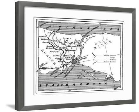 A Map Showing the Positions of Russian and Turkish Lines Outside Constantinople, 1900--Framed Art Print