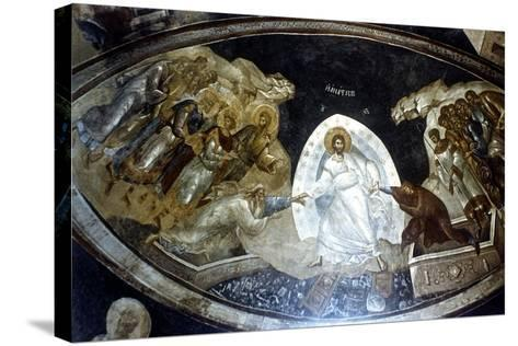 Anastasis, Fresco in the Parekklesion of Church of Christ in Chora, C1310-C1320--Stretched Canvas Print