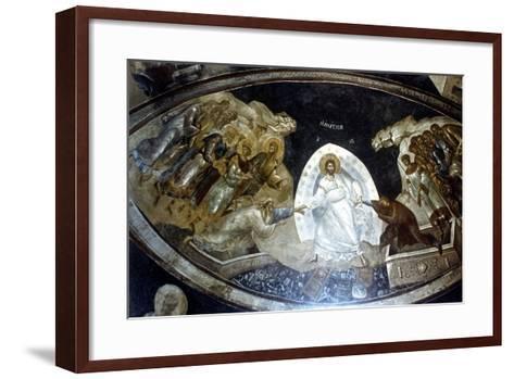 Anastasis, Fresco in the Parekklesion of Church of Christ in Chora, C1310-C1320--Framed Art Print