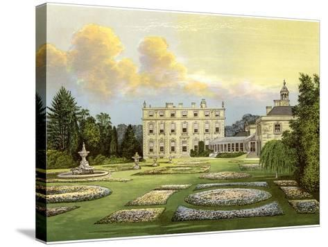 Dytchley House, Oxfordshire, Home of Viscount Dillon, C1880-Benjamin Fawcett-Stretched Canvas Print