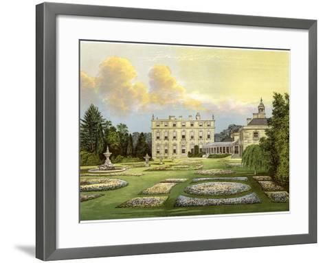 Dytchley House, Oxfordshire, Home of Viscount Dillon, C1880-Benjamin Fawcett-Framed Art Print