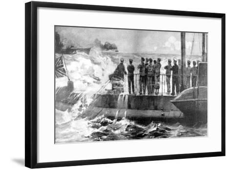 British Submarine E-13 in the Baltic to Assist the Russians, World War I, 1915--Framed Art Print