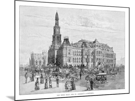 The Town Hall and St Andrew's Cathedral, Sydney, New South Wales, Australia, 1886--Mounted Giclee Print