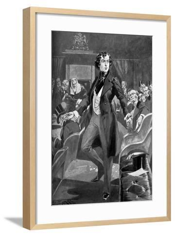 Disraeli's First Speech in the House of Commons, 19th Century-T Walter Wilson-Framed Art Print