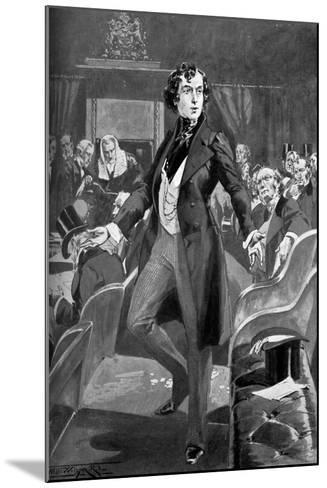 Disraeli's First Speech in the House of Commons, 19th Century-T Walter Wilson-Mounted Giclee Print