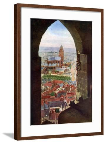View from the Belfry of Bruges, Belgium, C1924--Framed Art Print