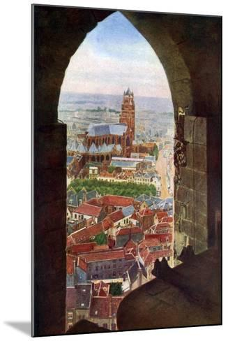 View from the Belfry of Bruges, Belgium, C1924--Mounted Giclee Print