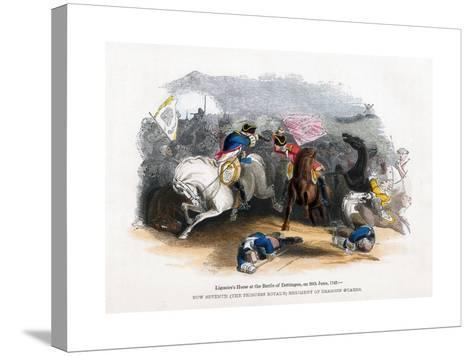 Ligonier's Horse at the Battle of Dettingen, 20th June 1743--Stretched Canvas Print