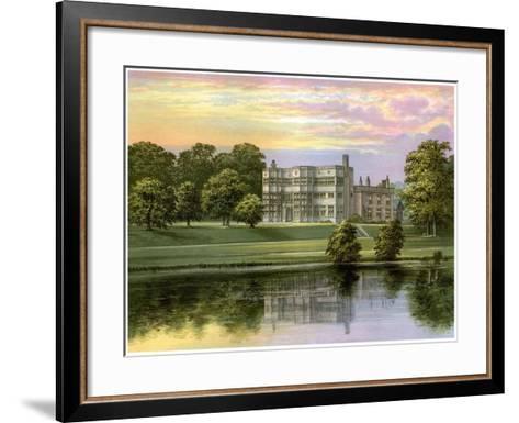 Astley Hall, Lancashire, Home of Baronet De Hoghton, C1880-Benjamin Fawcett-Framed Art Print