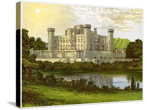 Eastnor Castle, Herefordshire, Home of Earl Somers, C1880-Benjamin Fawcett-Stretched Canvas Print