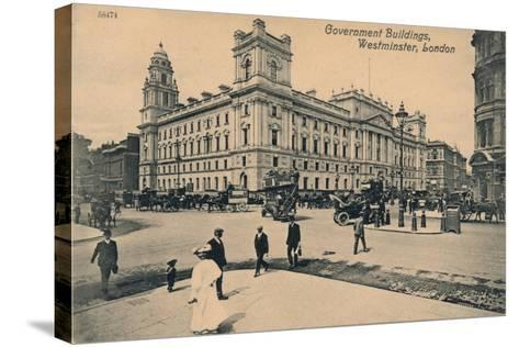 Government Offices Great George Street (Goggs), Westminster, London, C1910--Stretched Canvas Print