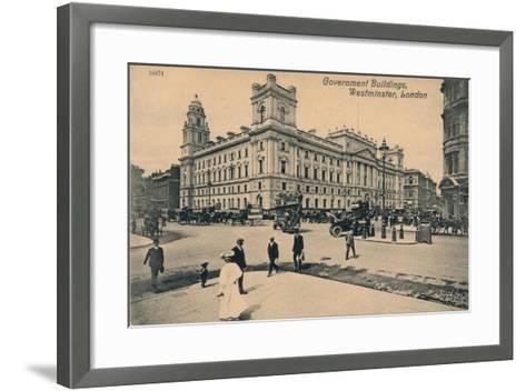 Government Offices Great George Street (Goggs), Westminster, London, C1910--Framed Art Print