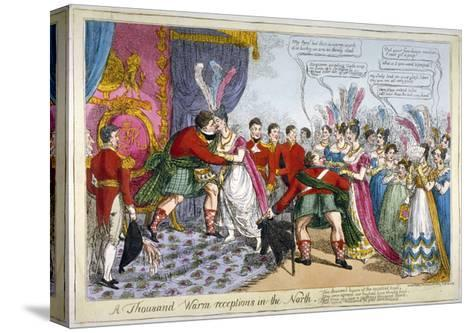 A Thousand Warm Receptions in the North, 1823--Stretched Canvas Print