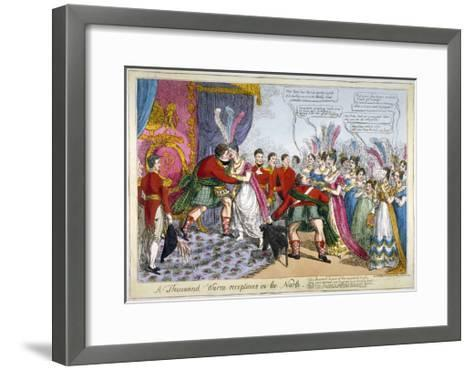 A Thousand Warm Receptions in the North, 1823--Framed Art Print