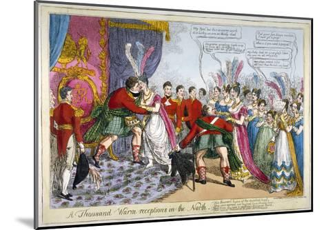 A Thousand Warm Receptions in the North, 1823--Mounted Giclee Print