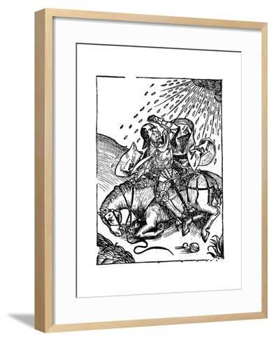 Conversion of St Paul on the Road to Damascus, 1493--Framed Art Print