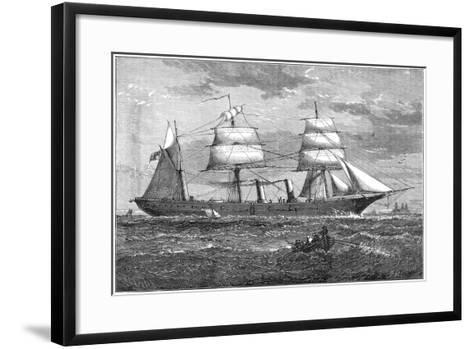Dispatch Vessel HMS Iris, C1880--Framed Art Print