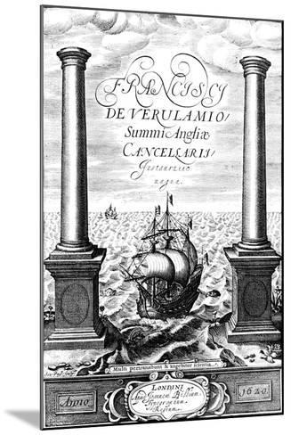 Title Page of Instauratio Magna, by Francis Bacon, 1620--Mounted Giclee Print