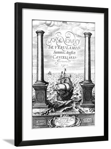 Title Page of Instauratio Magna, by Francis Bacon, 1620--Framed Art Print