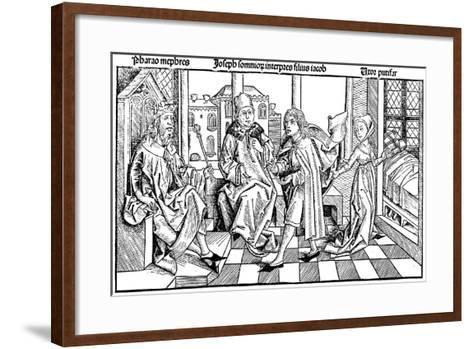 Joseph Interpreting Pharaoh's Dream, 1493--Framed Art Print