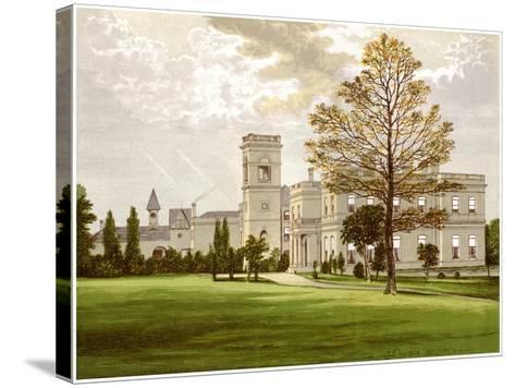 Stowlangtoft Hall, Suffolk, Home of the Wilson Family, C1880-Benjamin Fawcett-Stretched Canvas Print