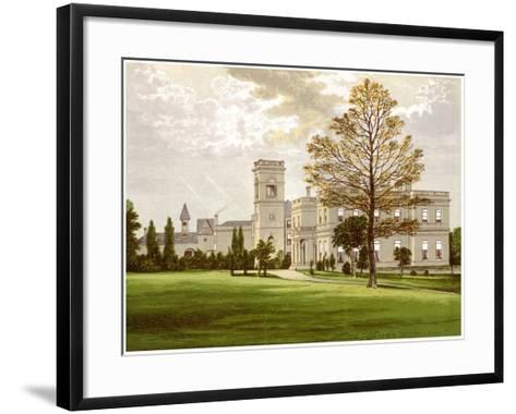 Stowlangtoft Hall, Suffolk, Home of the Wilson Family, C1880-Benjamin Fawcett-Framed Art Print