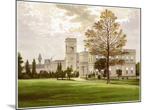 Stowlangtoft Hall, Suffolk, Home of the Wilson Family, C1880-Benjamin Fawcett-Mounted Giclee Print