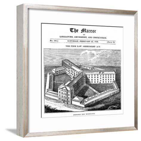Abingdon Workhouse, Oxfordshire, Built for the Abingdon Union, 1836--Framed Art Print