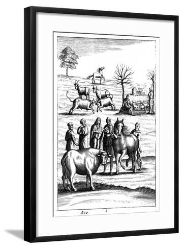 Sheep, Cattle, Horses and Goats, 18th Century--Framed Art Print