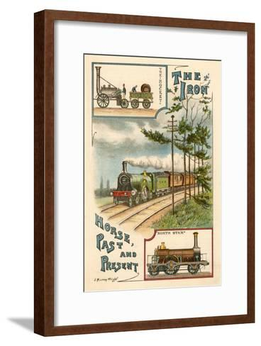 The Iron Horse Past and Present, C1900--Framed Art Print