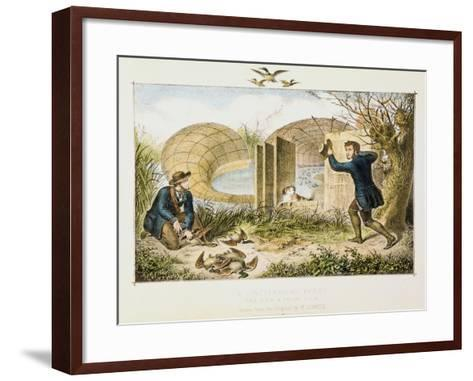Lincolnshire Duck Decoy, C1845--Framed Art Print