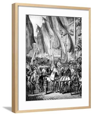 Entry of Archduke John of Austria into Frankfurt, Germany, 11 July 1848--Framed Art Print