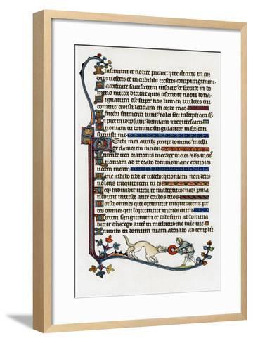 Page of Decorated Text, 1284-1316--Framed Art Print