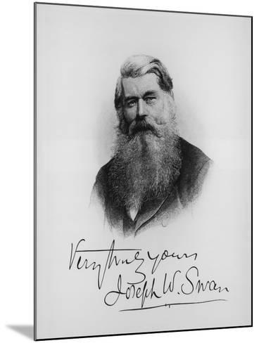 Sir Joseph Wilson Swan, Scientist and Inventor, C1900--Mounted Giclee Print