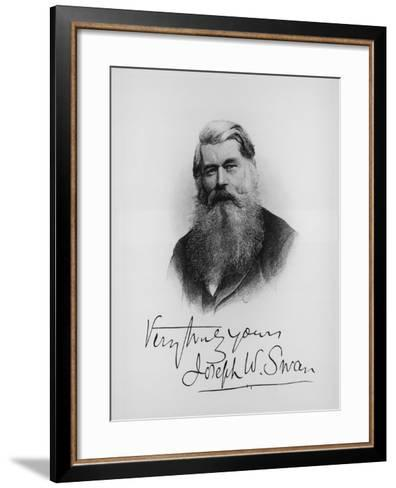 Sir Joseph Wilson Swan, Scientist and Inventor, C1900--Framed Art Print