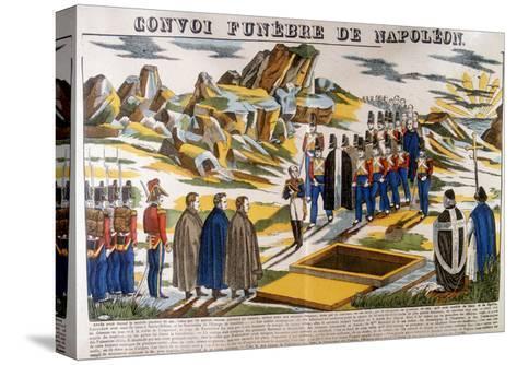 Napoleon's Funeral Cortege, St Helena, 1821--Stretched Canvas Print