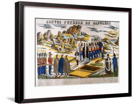 Napoleon's Funeral Cortege, St Helena, 1821--Framed Art Print