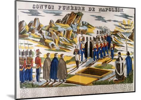 Napoleon's Funeral Cortege, St Helena, 1821--Mounted Giclee Print