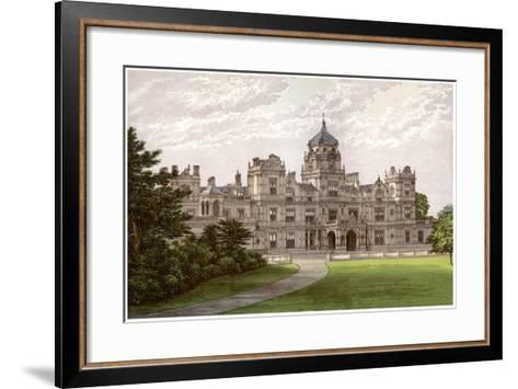 Westonbirt House, Gloucestershire, Home of the Holford Family, C1880-Benjamin Fawcett-Framed Art Print