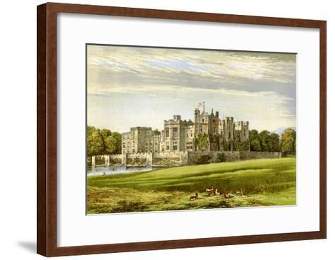 Raby Castle, County Durham, Home of the Duke of Cleveland, C1880-AF Lydon-Framed Art Print