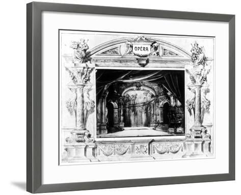 Set Design for Mozart's Don Giovanni, 1875--Framed Art Print