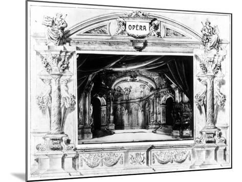 Set Design for Mozart's Don Giovanni, 1875--Mounted Giclee Print