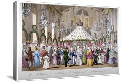 Scene in the Hanover Square Rooms, Westminster, London, 1833-Ferdinand Flor-Stretched Canvas Print