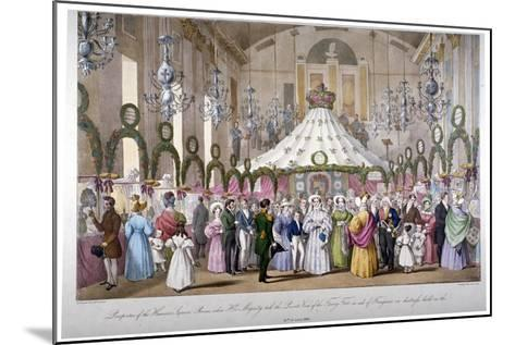 Scene in the Hanover Square Rooms, Westminster, London, 1833-Ferdinand Flor-Mounted Giclee Print